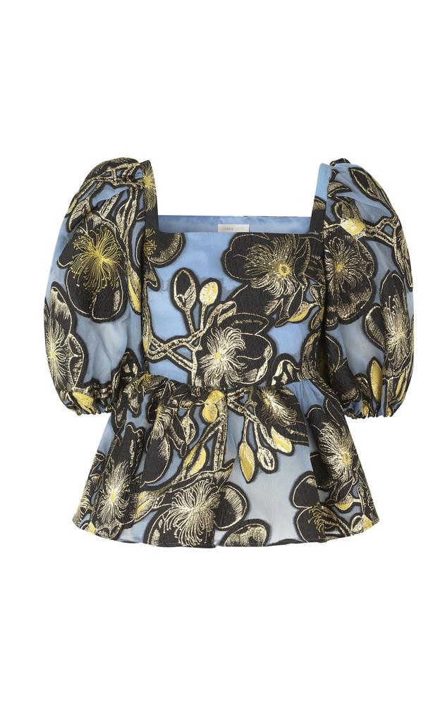 Stine Goya Irene Gold Floral Blouse in blue
