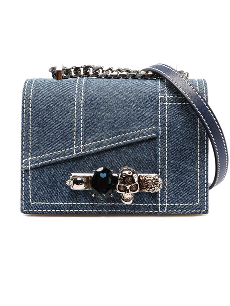 Alexander McQueen Sm Jewel Bag in blue