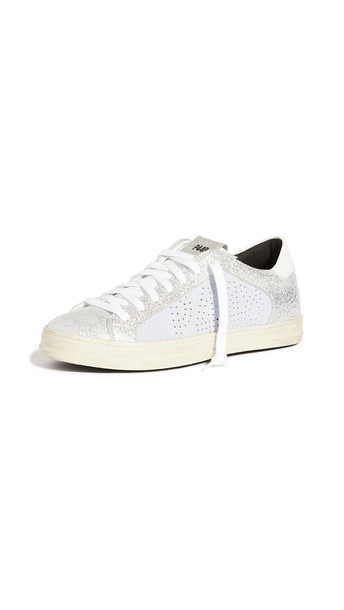 P448 John W Sneakers in lilac / silver