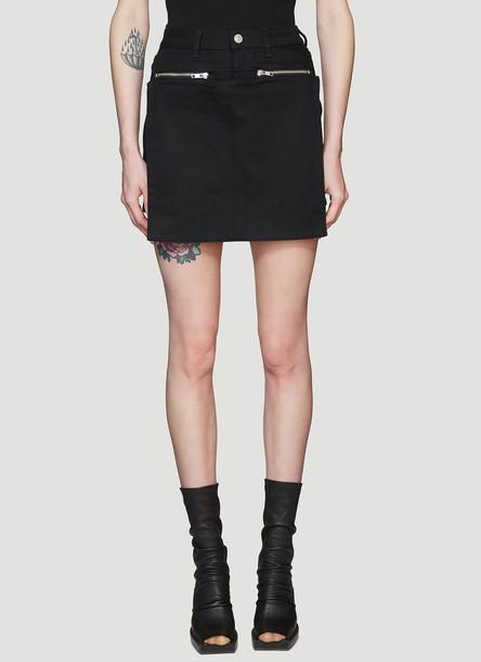 1017 ALYX 9SM Denim Cargo Mini Skirt in Black size 25