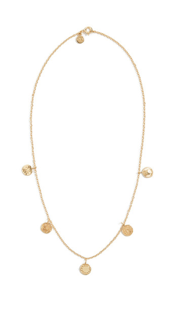 Gorjana Cruz Mixed Coin Necklace in gold