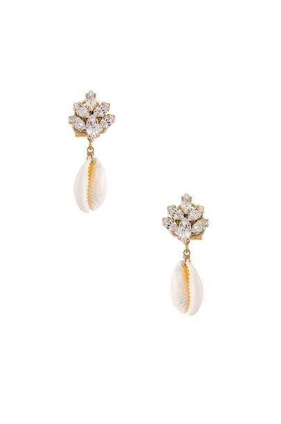 Anton Heunis Cluster Shell Earrings in gold / metallic