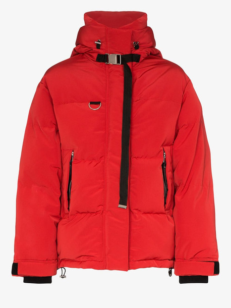 SHOREDTICH SKI CLUB SHOREDITCH SKI CLUB Willow puffa jacket in red