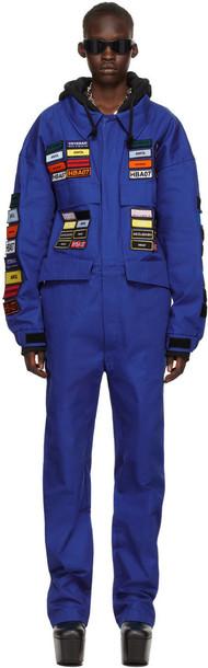 Hood by Air Blue Boiler 'Veteran' Jumpsuit