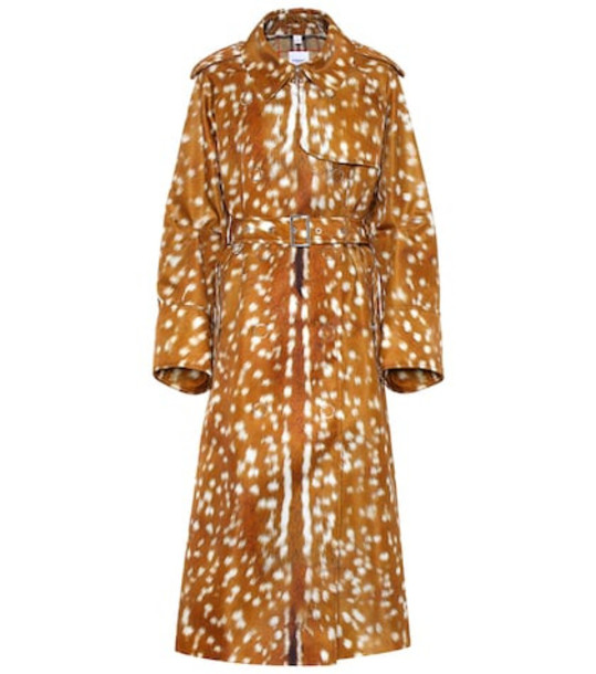 Burberry Printed trench coat in brown