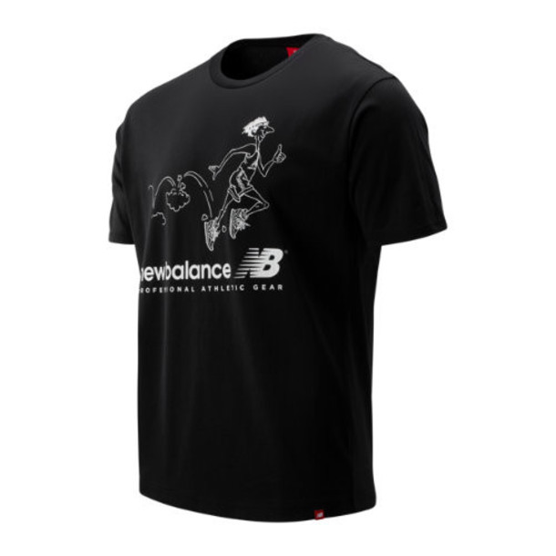 New Balance 93584 Men's NB Athletics Throwback Tee - Black (MT93584BK)