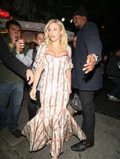 dress,bustier,bustier dress,lili reinhart,celebrity,floral dress,pumps,stripes