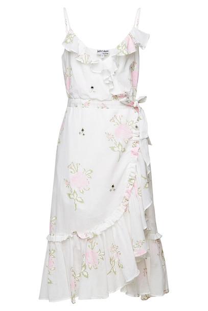 Juliet Dunn Floral Cotton Wrap Dress