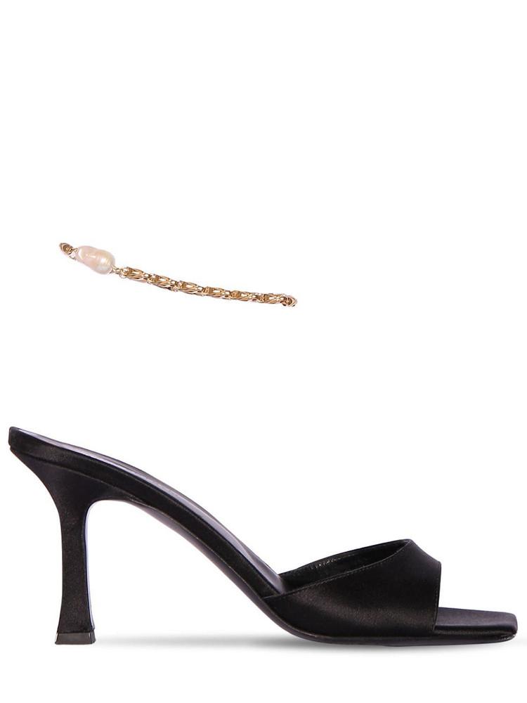 MAGDA BUTRYM 80mm Estonia Satin Sandals in black