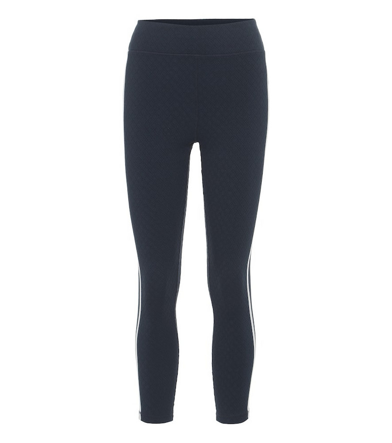 The Upside Jacquard Dance cropped leggings in blue