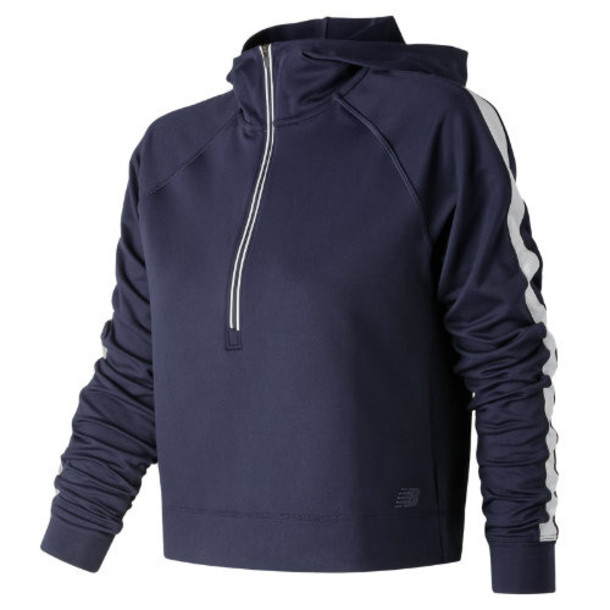 New Balance 91145 Women's Anticipate Crop Pullover - Navy (WT91145PGM)