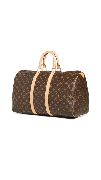 What Goes Around Comes Around LV Monogram Keepall Bag in brown