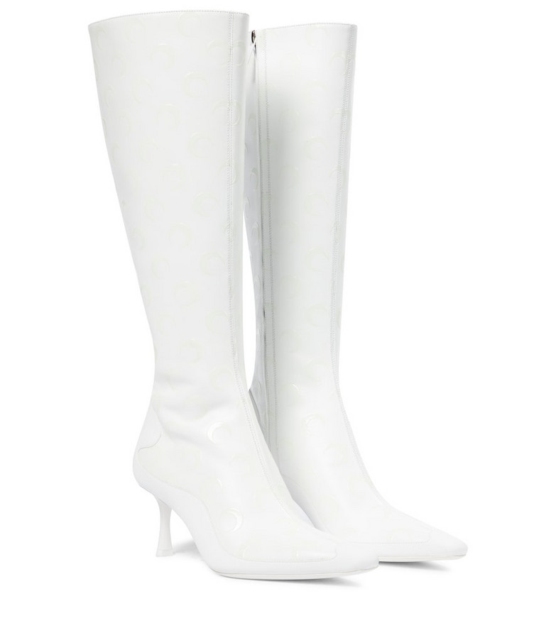 Jimmy Choo Exclusive to Mytheresa – x Marine Serre leather knee-high boots in white