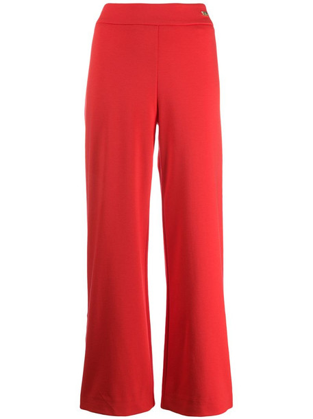 Cavalli Class wide leg track pants in red
