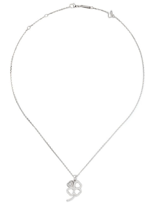Chopard 18kt white gold Good Luck Charms diamond pendant necklace
