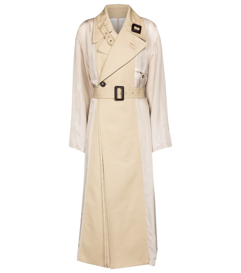 Maison Margiela Double-breasted trench coat in beige