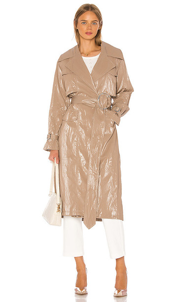 L'Academie The Cammi Trench in Metallic Neutral