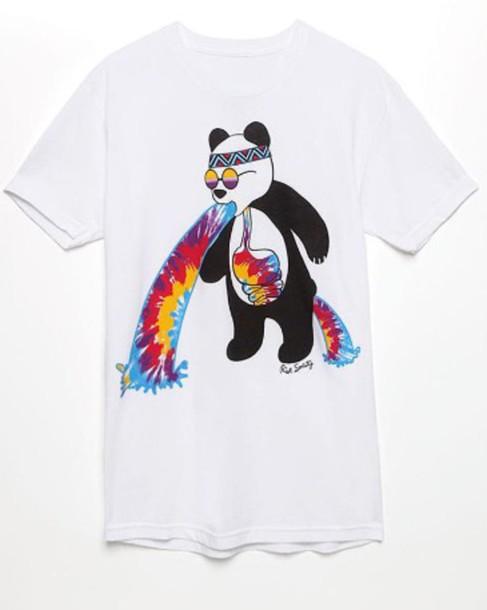 shirt panda tie dye barf
