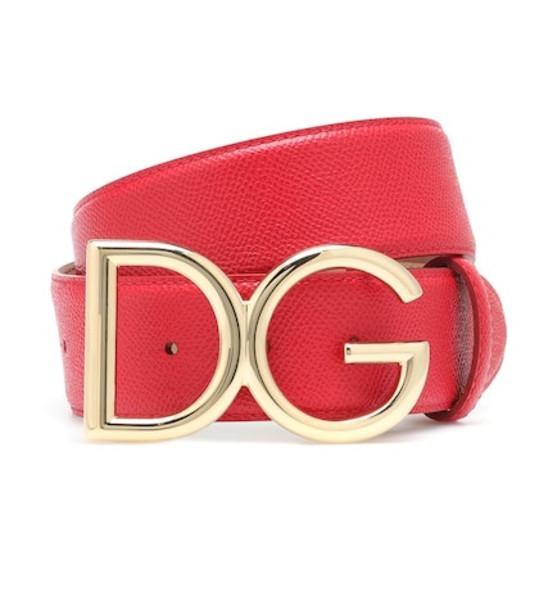 Dolce & Gabbana DG leather belt in red