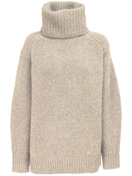LOULOU STUDIO Giara Alpaca Blend Knit Sweater in beige
