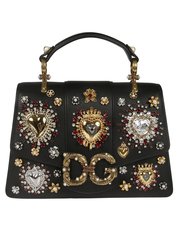 Dolce & Gabbana Heart Embellished Tote in black