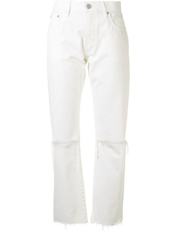Moussy Vintage Wagoner straight jeans in white