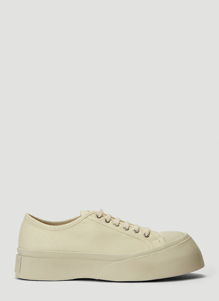 Marni Canvas Sneakers in White size EU - 39