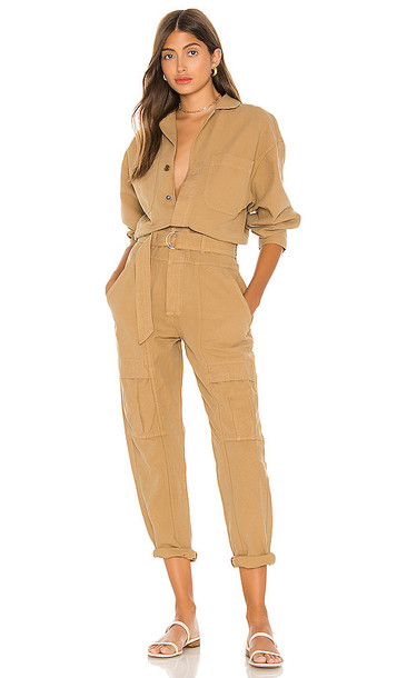 Citizens of Humanity Willa Utility Jumpsuit in Brown