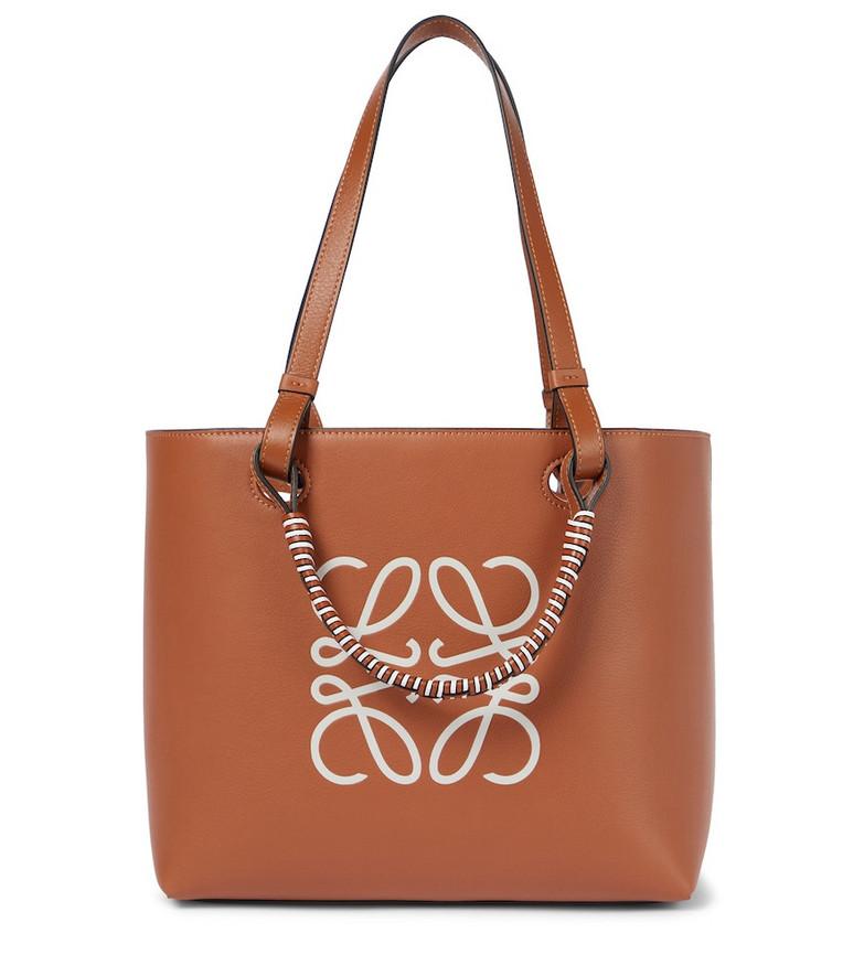 LOEWE Anagram leather tote in brown