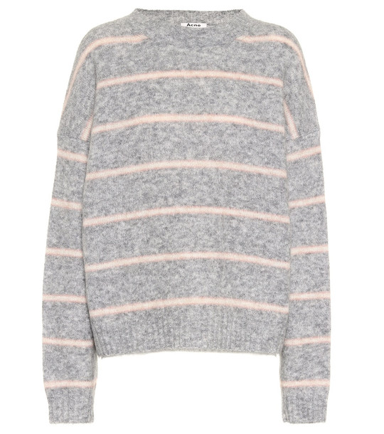 Acne Studios Striped wool-blend sweater in grey