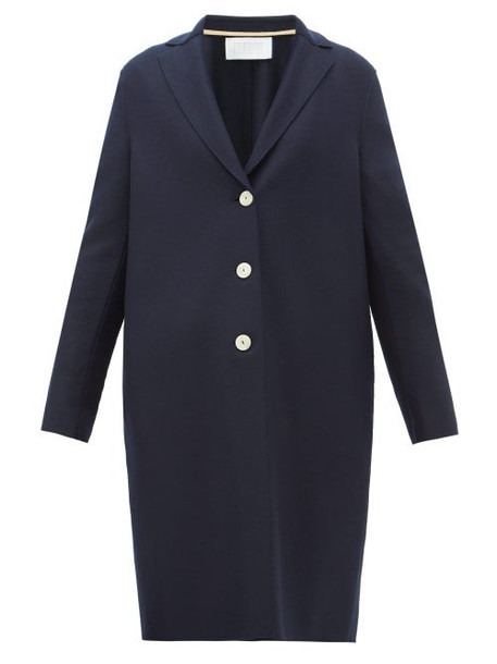 Harris Wharf London - Single-breasted Felted-wool Coat - Womens - Navy