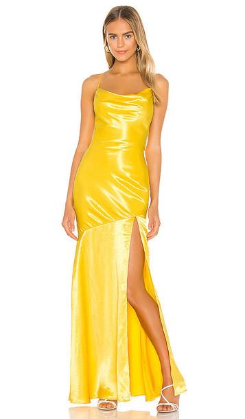 Lovers + Friends Lovers + Friends Dewey Gown in Yellow