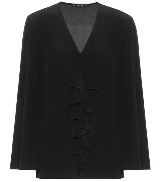 Etro Silk blouse in black
