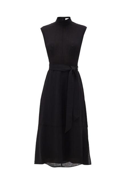 Cefinn - Etta High-neck Belted Dress - Womens - Black
