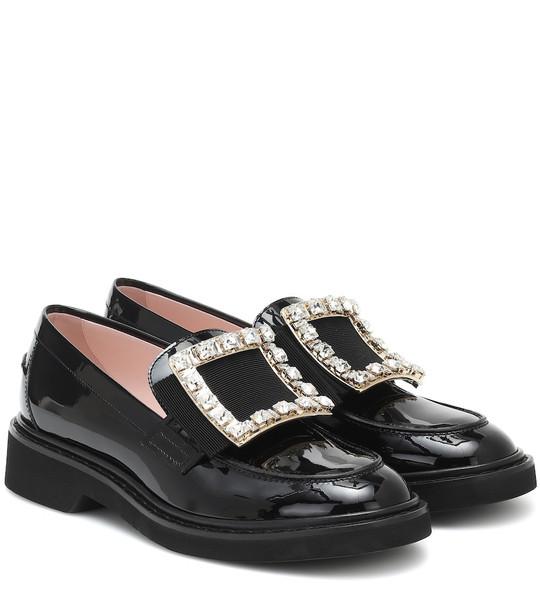 Roger Vivier Viv' Rangers patent-leather loafers in black