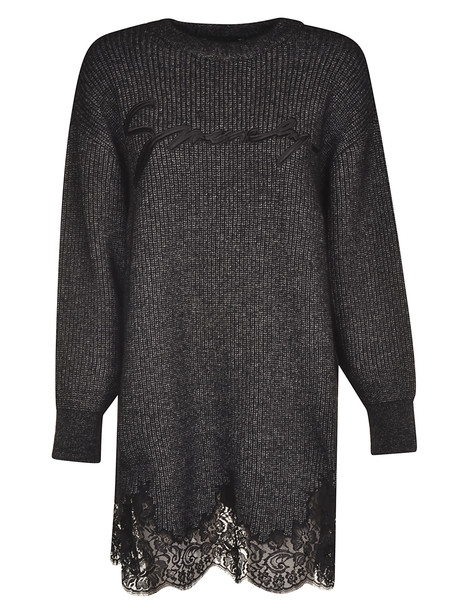 Givenchy Logo Embroidered Dress in charcoal