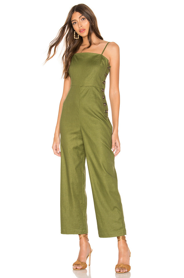 L'Academie The Charleen Jumpsuit in green