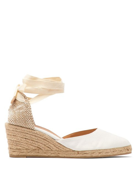 125154275d6 Castañer - Joyce Canvas Wedge Espadrilles - Womens - White
