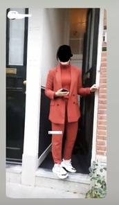 jacket,suit,suits for women,suits,work clothes,pink,red,coral,pantalon,pants