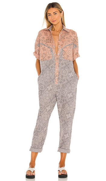OVERLOVER Lolina Jumpsuit in Grey in stone