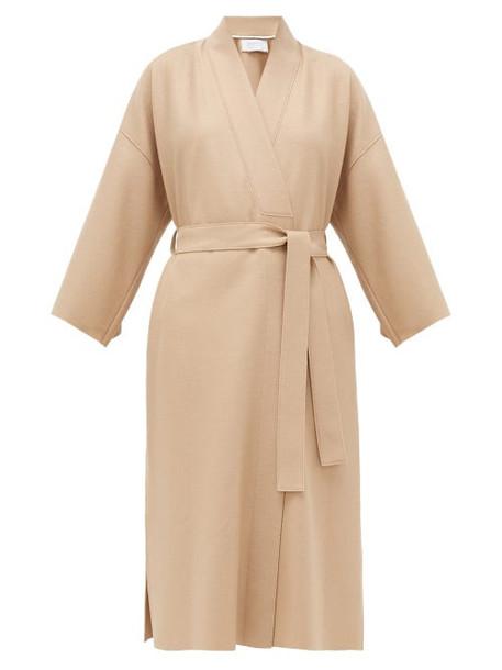 Harris Wharf London - Dropped-sleeve Brushed-wool Coat - Womens - Camel