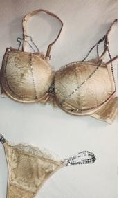 underwear,lace lingerie,cute underwear,beige underwear,jewels,jewelry,lingerie,sexy,bra
