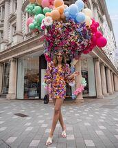 dress,mini dress,floral dress,long sleeve dress,zara,white sandals,black bag