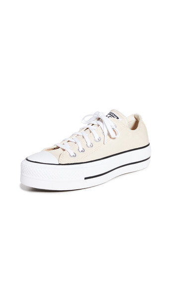 Converse Chuck Taylor All Star Lift Ox Sneakers in black / white