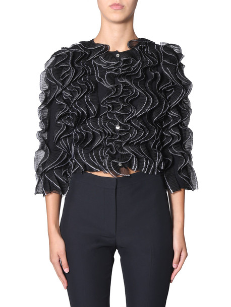 Alexander McQueen Jacket With Pleated Levers in nero