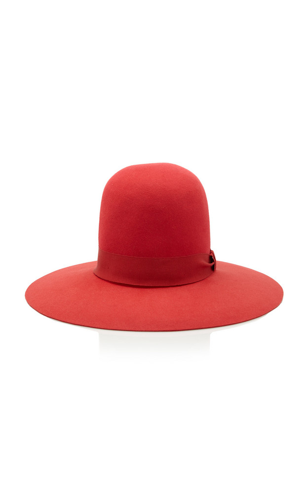 Dolce & Gabbana Tall Felt Hat Size: 56 in red