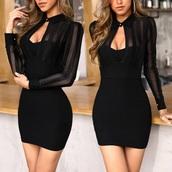 dress,black dress,collared dress,mini dress,classy