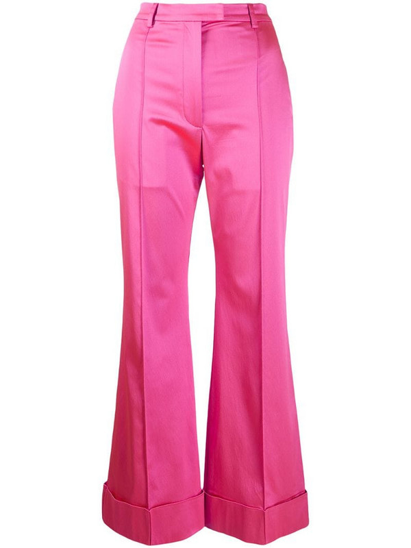 House of Holland tailored satin trousers in pink