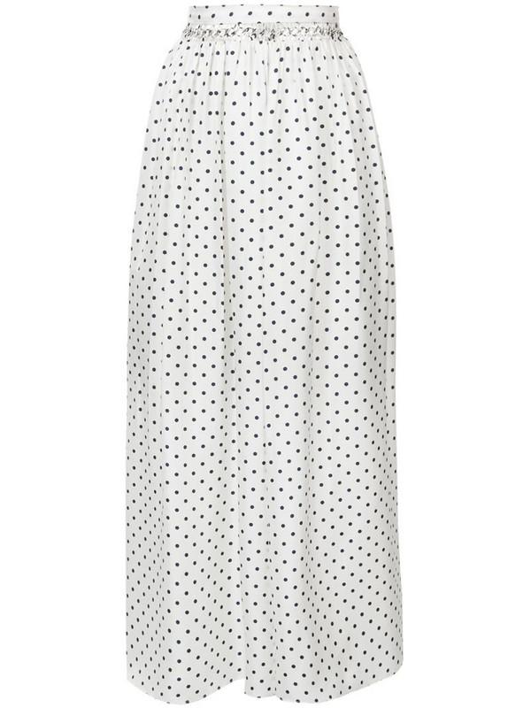 Gabriela Hearst long spot print skirt in white
