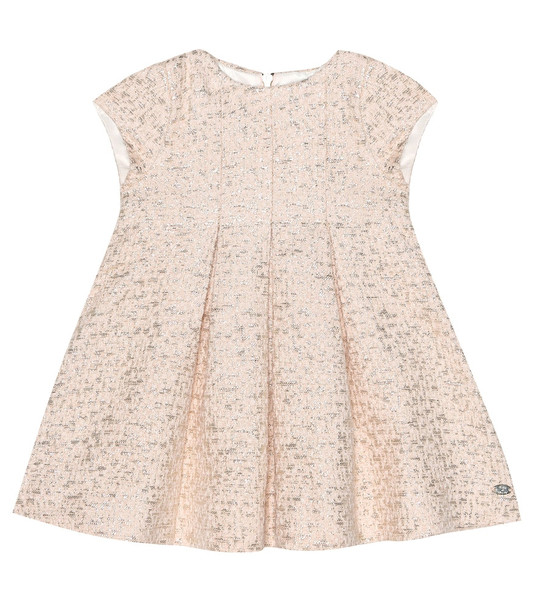 Tartine et Chocolat Baby metallic jacquard dress in pink
